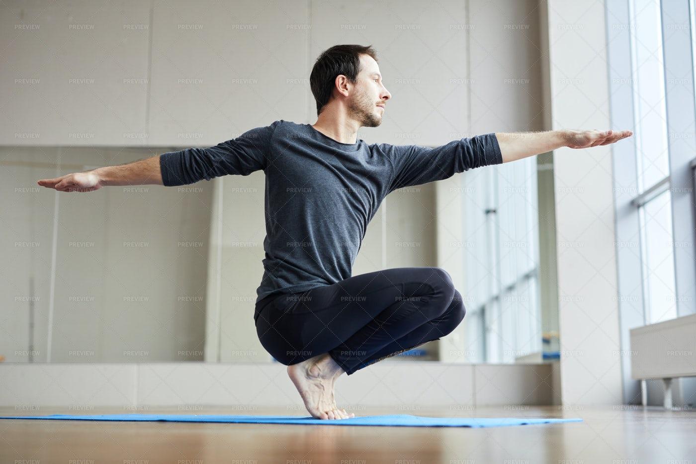 Man Balancing On Toes: Stock Photos