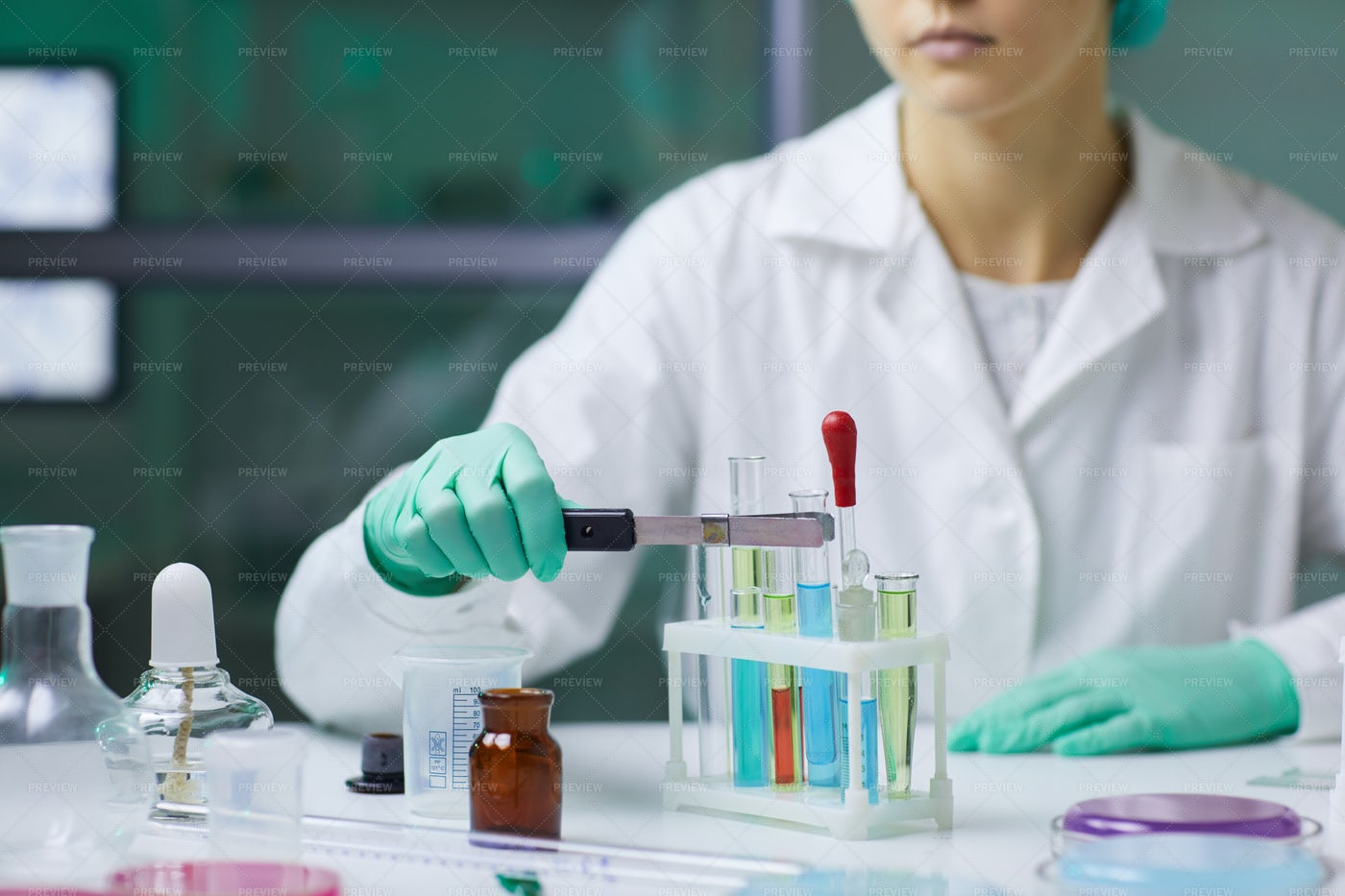 Medical Research Background: Stock Photos