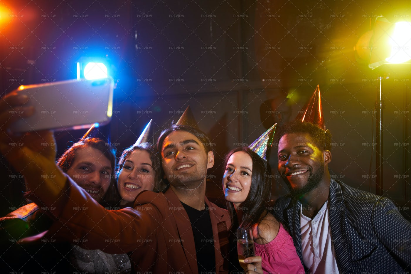 Birthday Party In Nightclub: Stock Photos
