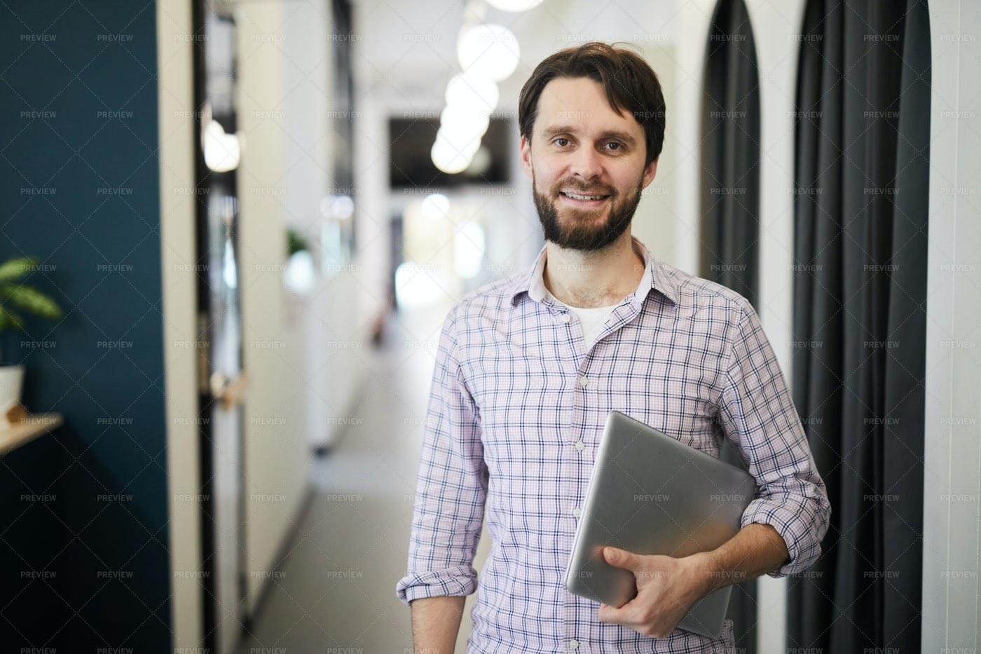 Cheerful Successful Entrepreneur...: Stock Photos