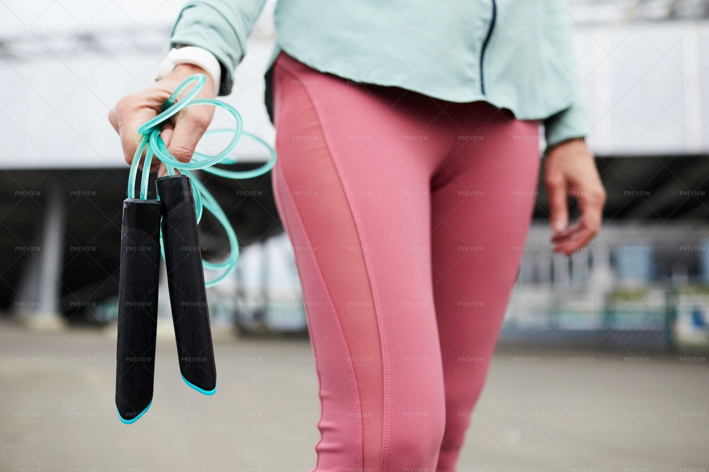 Carrying Skipping-rope: Stock Photos