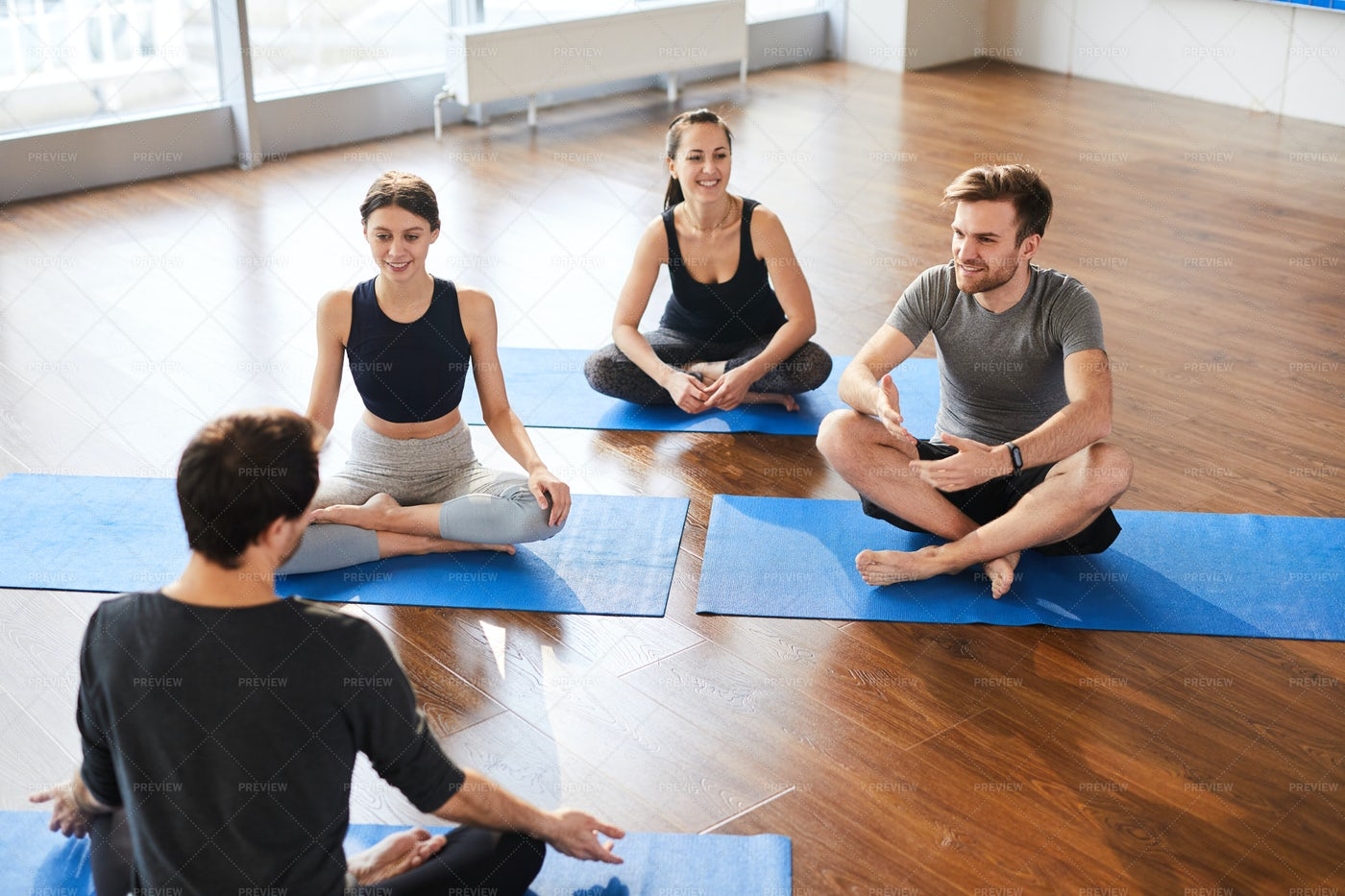 Yoga Students At Workshop With...: Stock Photos