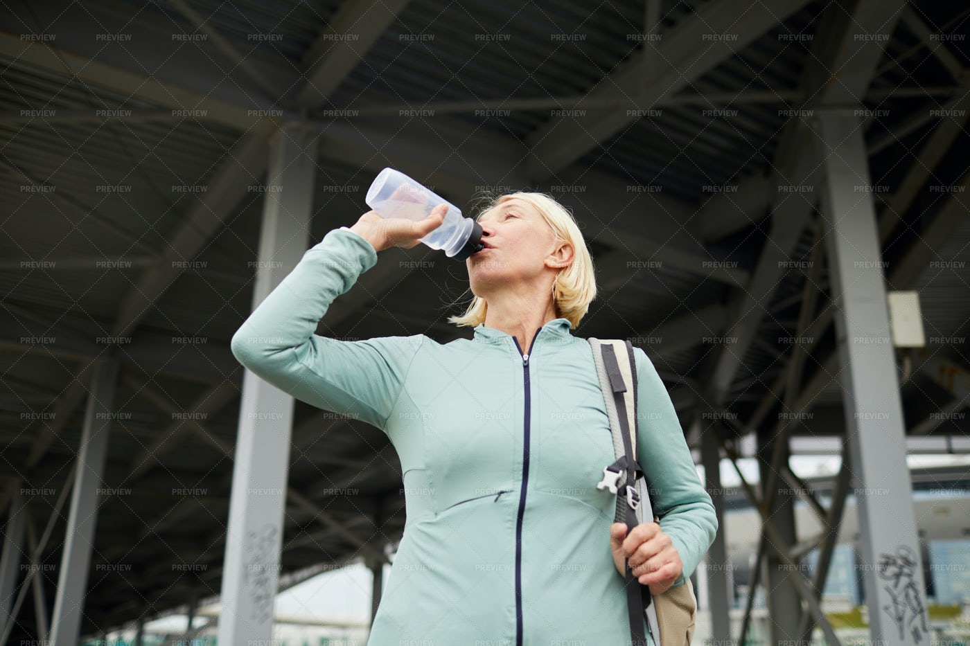 Refreshment After Workout: Stock Photos