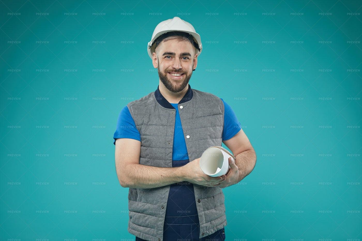 Caucasian Male Engineer Portrait: Stock Photos