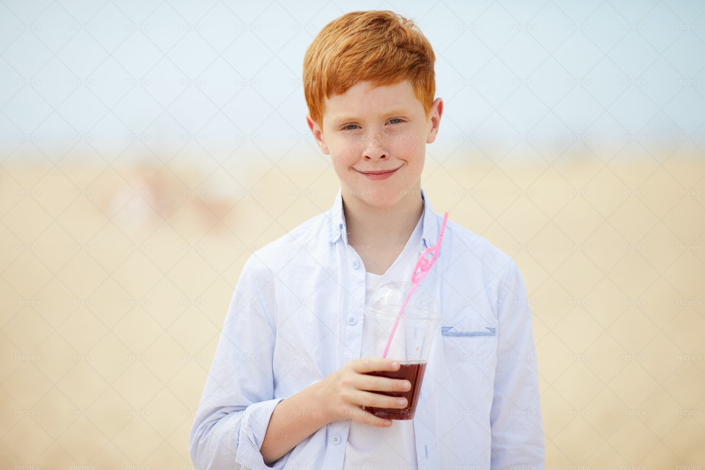 Smiling Little Boy Enjoying...: Stock Photos