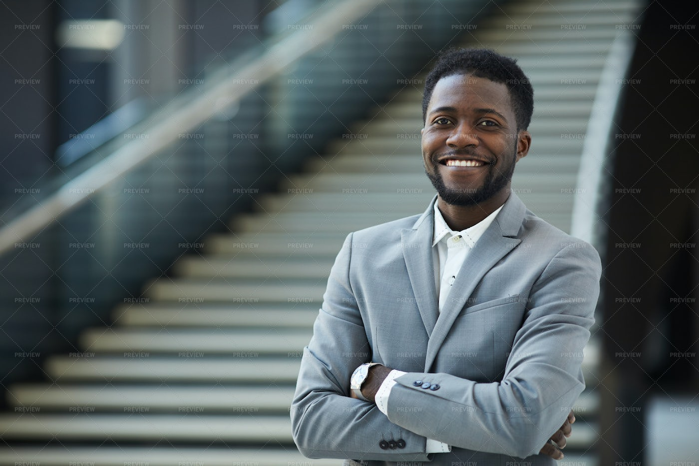 Successful Black Business Executive: Stock Photos