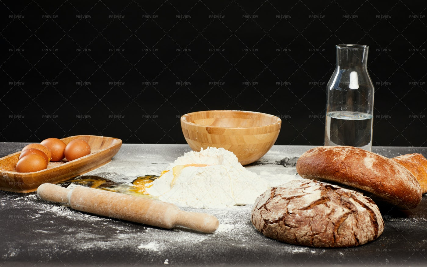 Traditional Baking Background: Stock Photos