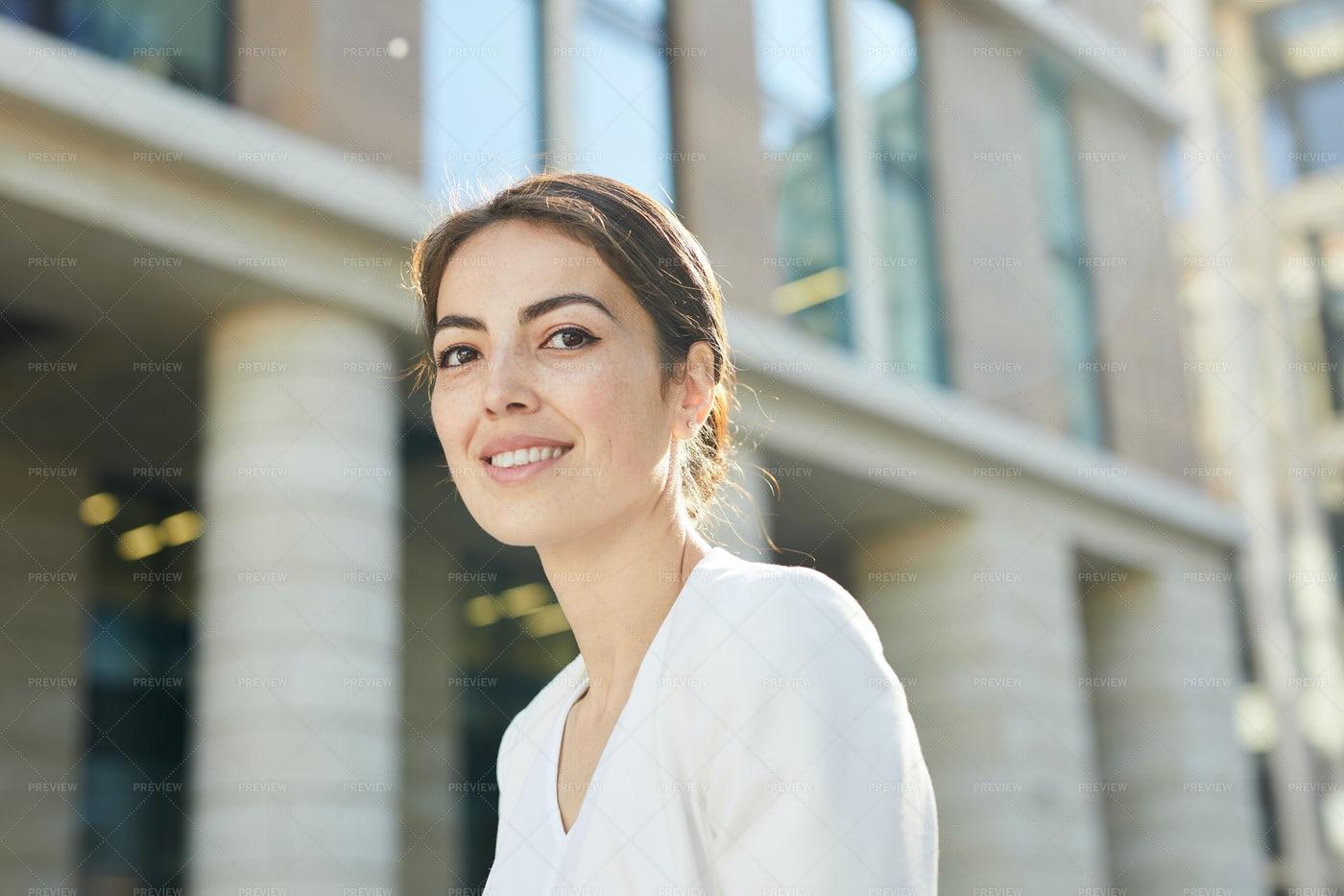 Portrait Of Businesswoman Outdoors: Stock Photos