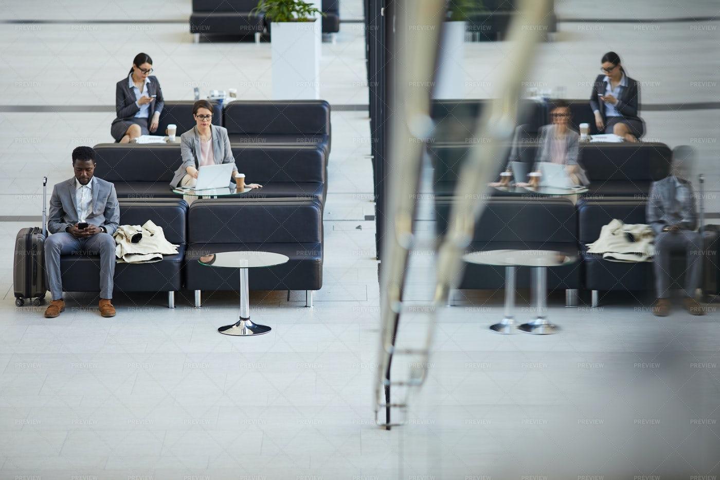 Airport Business Class Lounge: Stock Photos