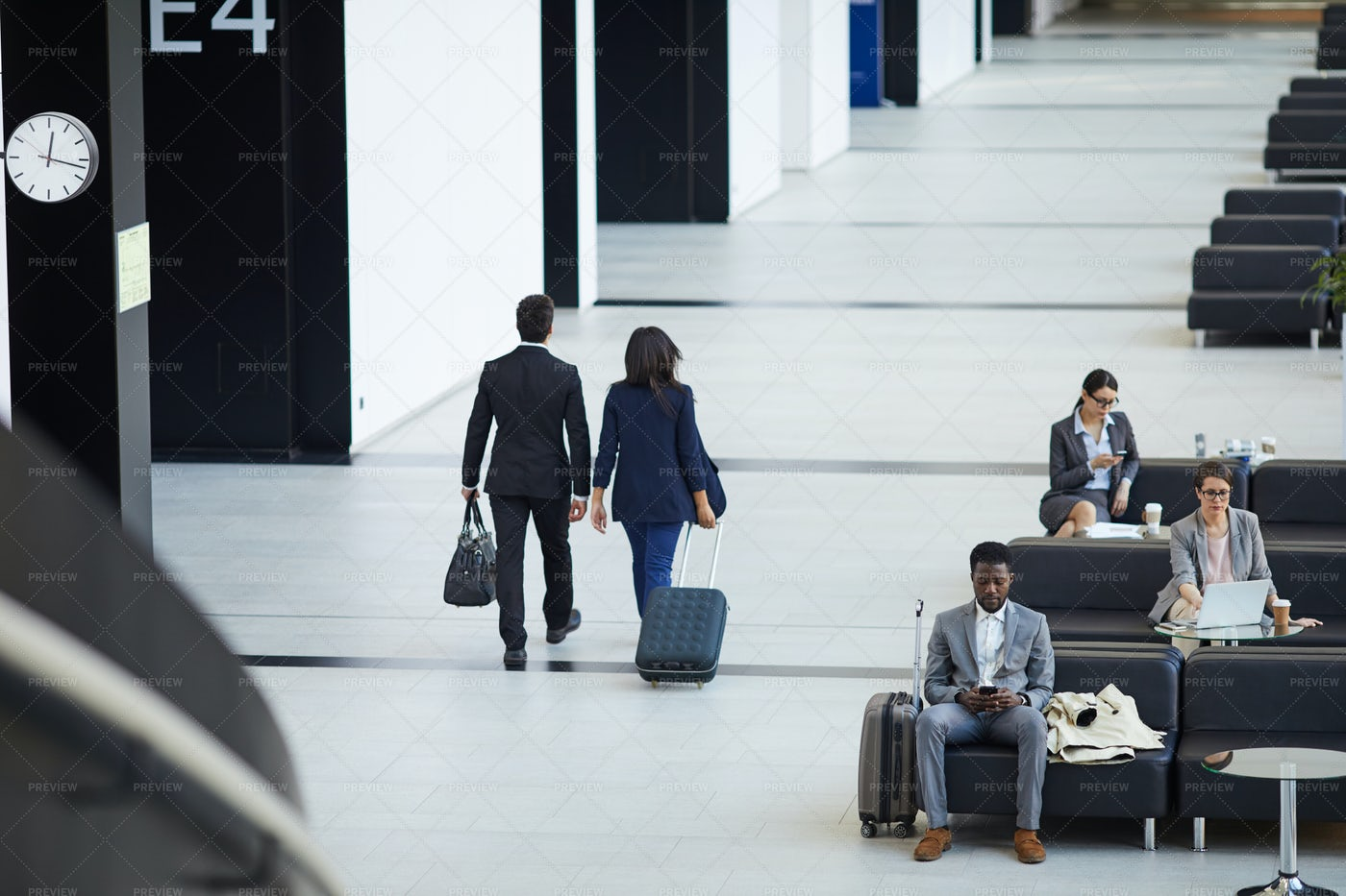 Business People Going To Board...: Stock Photos