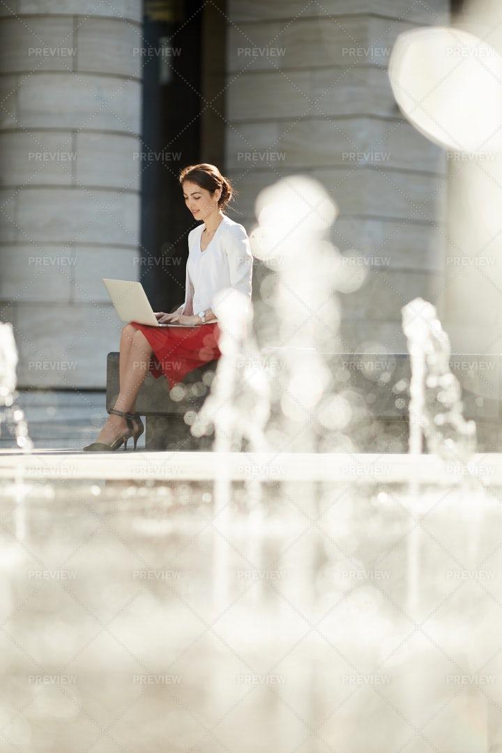 Elegant Businesswoman Working...: Stock Photos