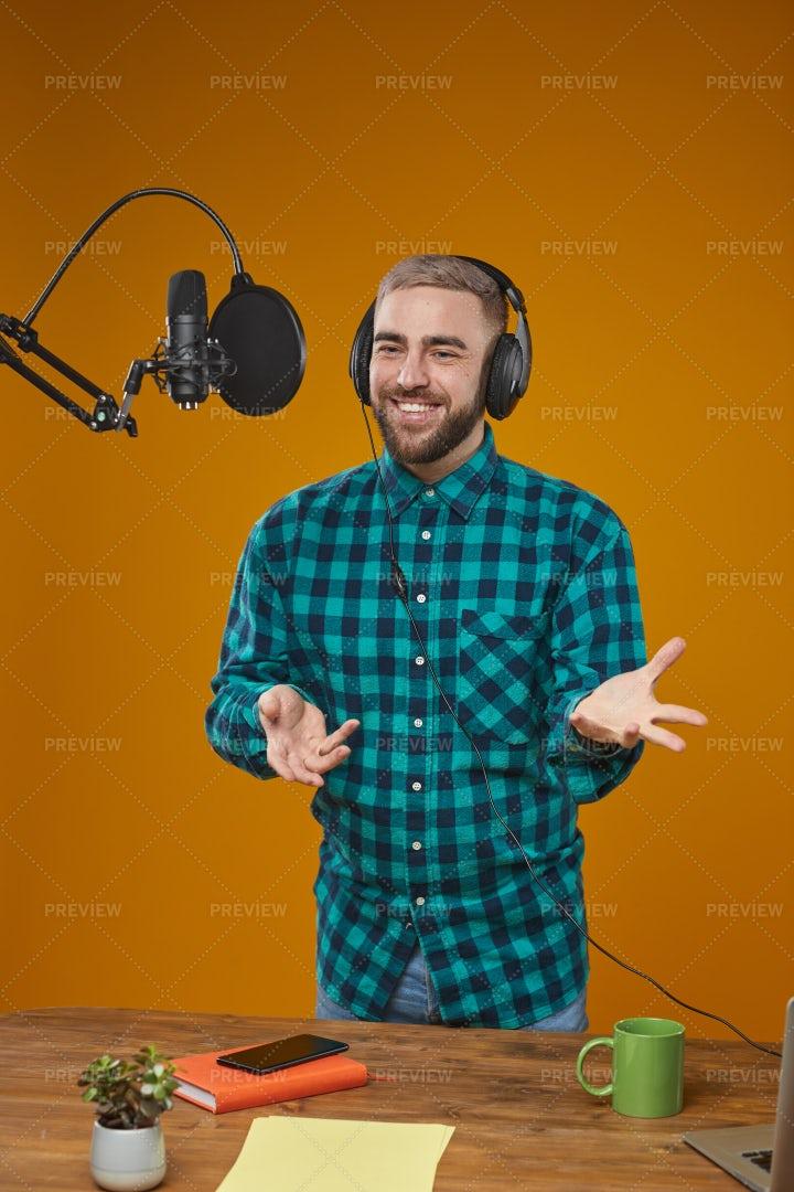 Professional Radio Presenter...: Stock Photos
