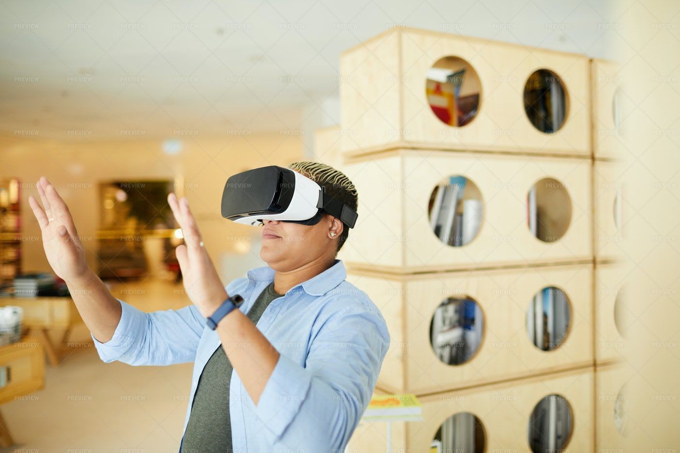 Studying Virtual World In...: Stock Photos