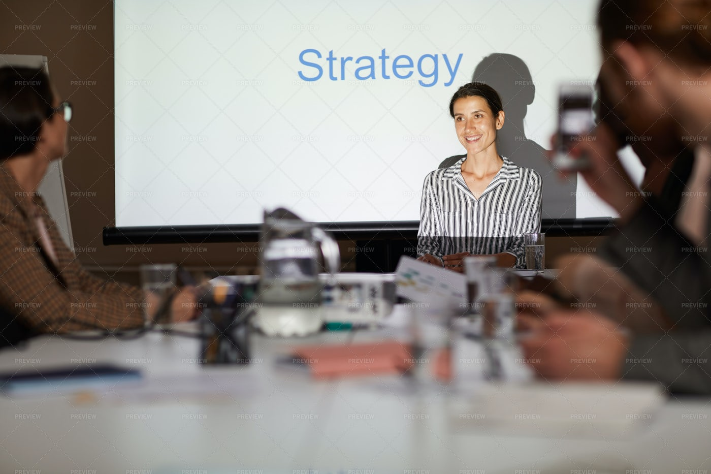 Manager Offering Strategy At...: Stock Photos