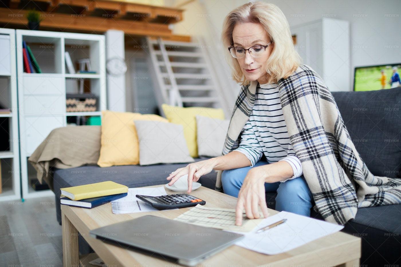Calculating Home Budget: Stock Photos