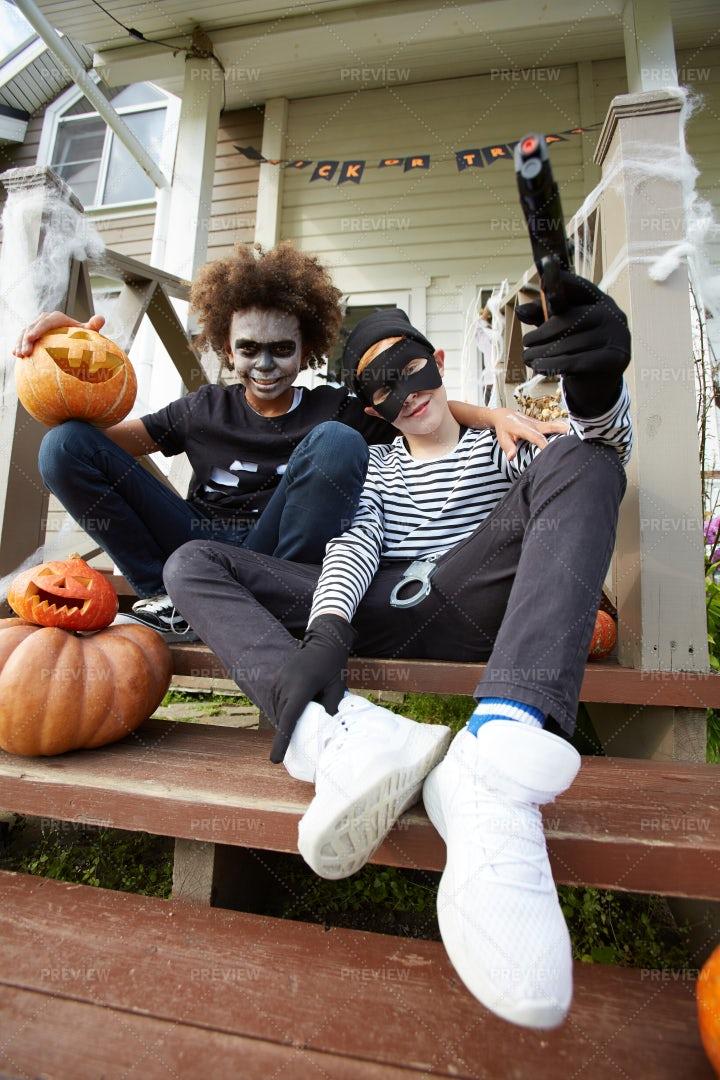 Halloween Buddies: Stock Photos