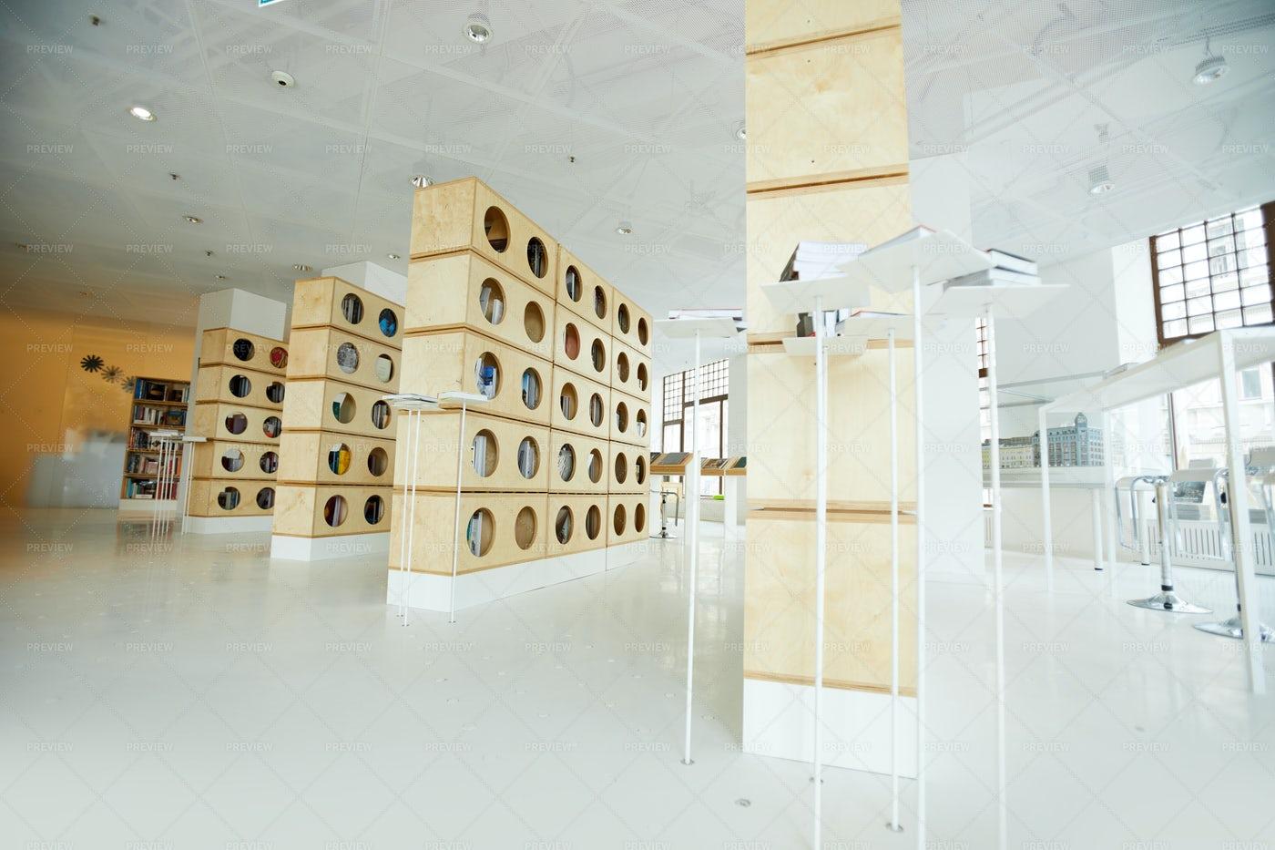 Modern Interior Of Bookstore: Stock Photos