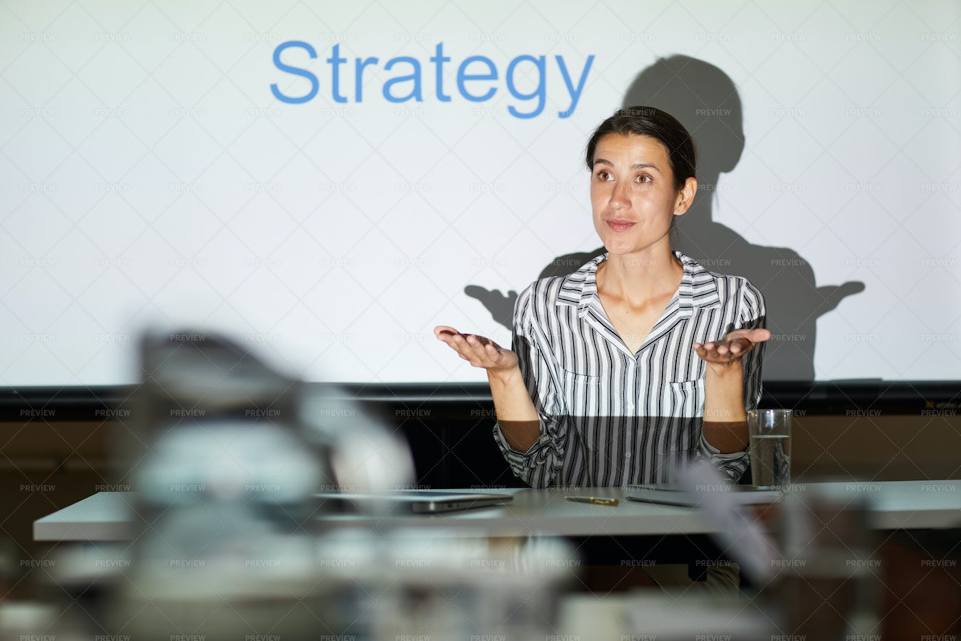 Discussing Strategy For Achieving...: Stock Photos