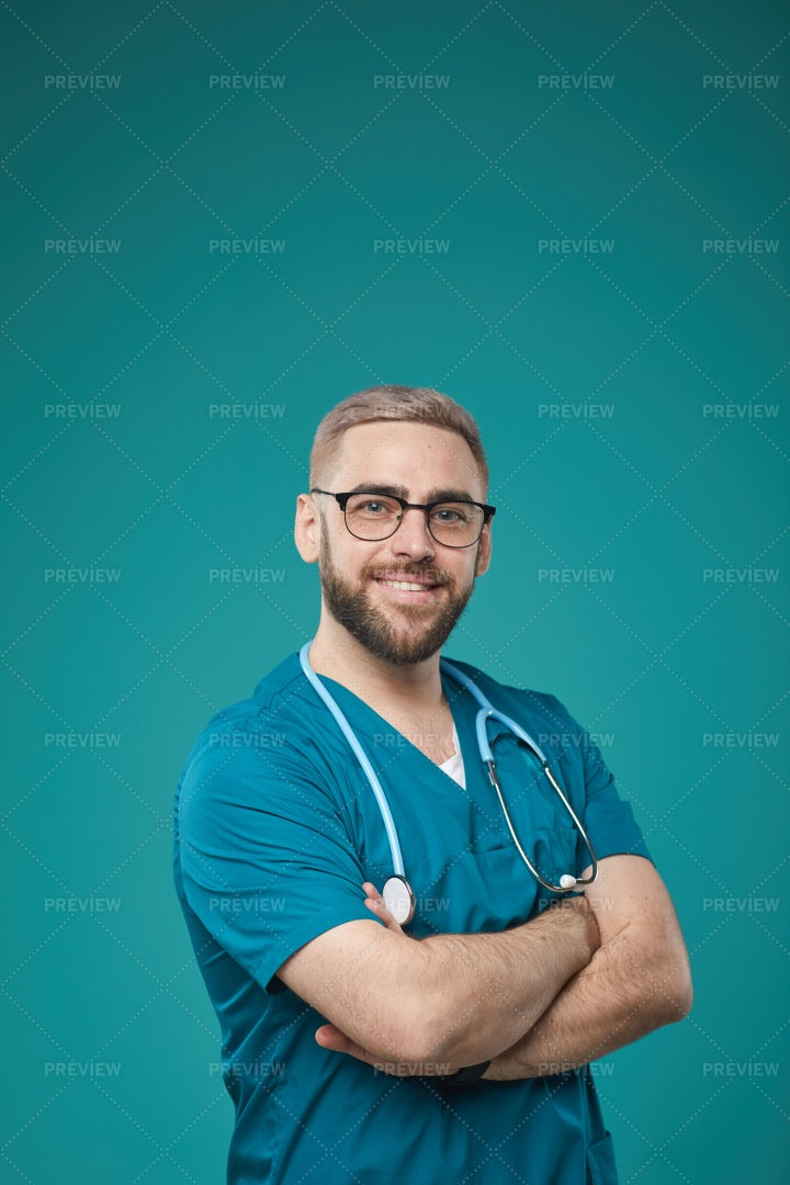 Confident Doctor With Arms Crossed: Stock Photos