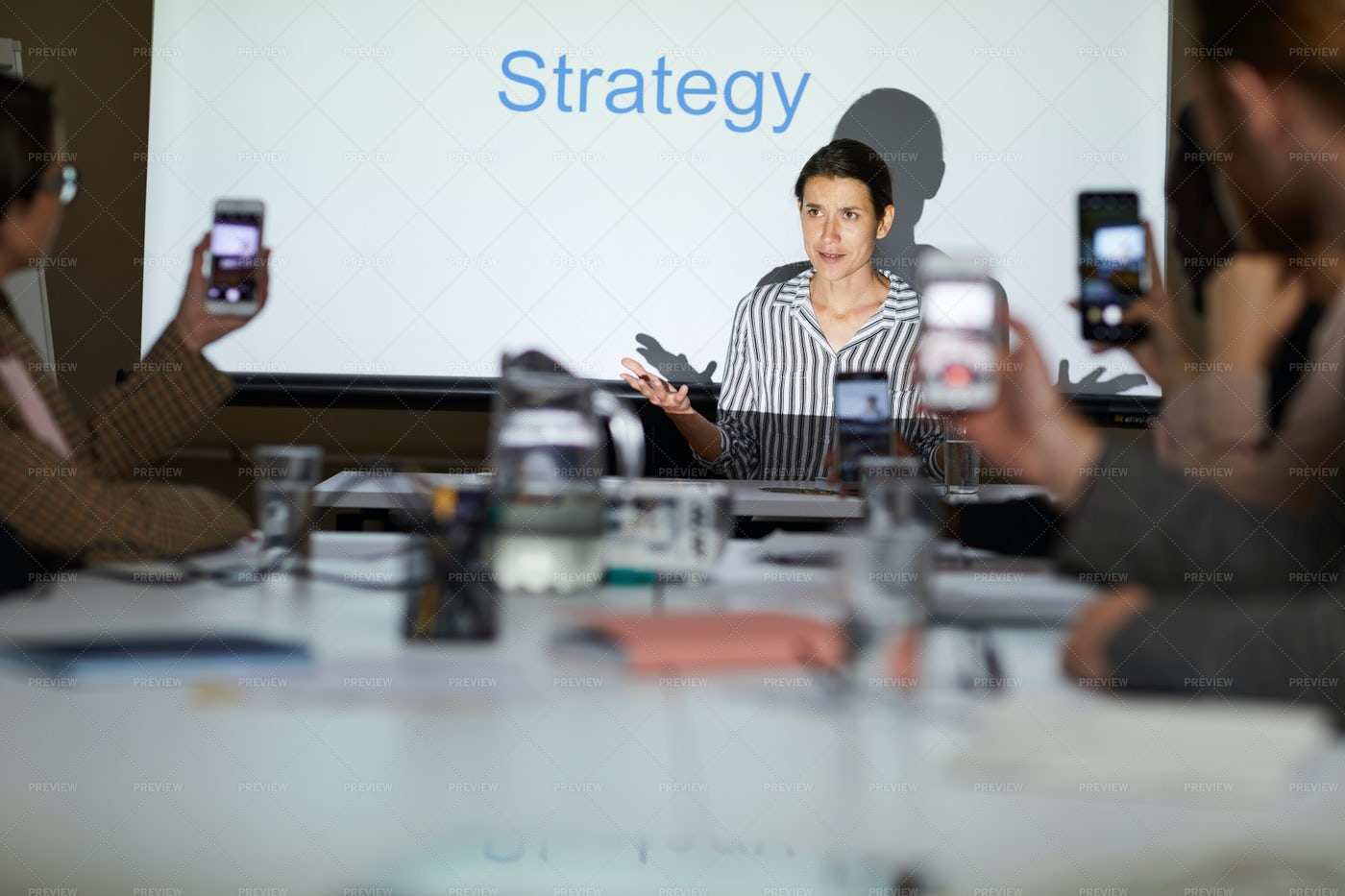 Business Course On Elaborating...: Stock Photos