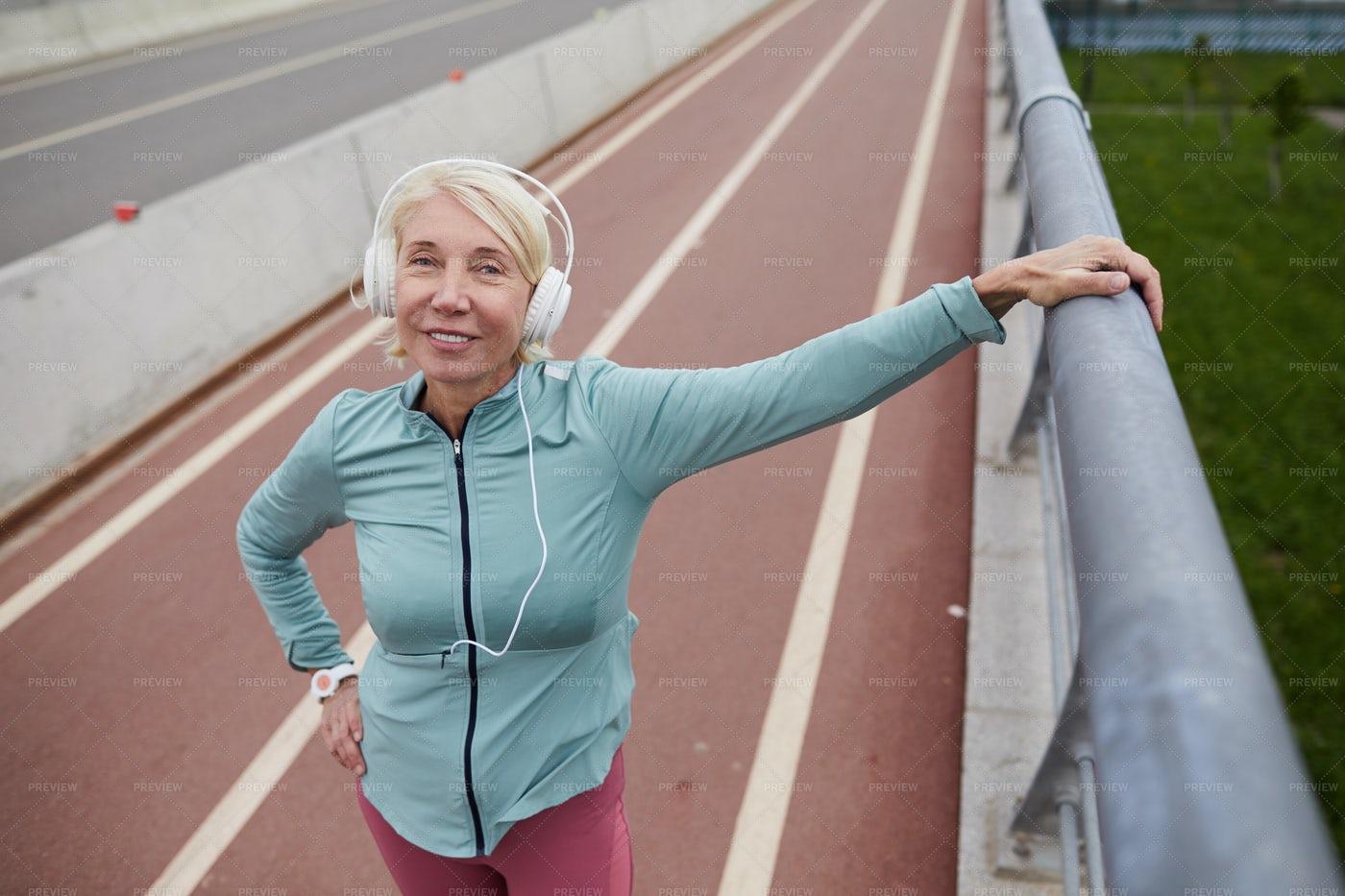 Woman On The Bridge: Stock Photos
