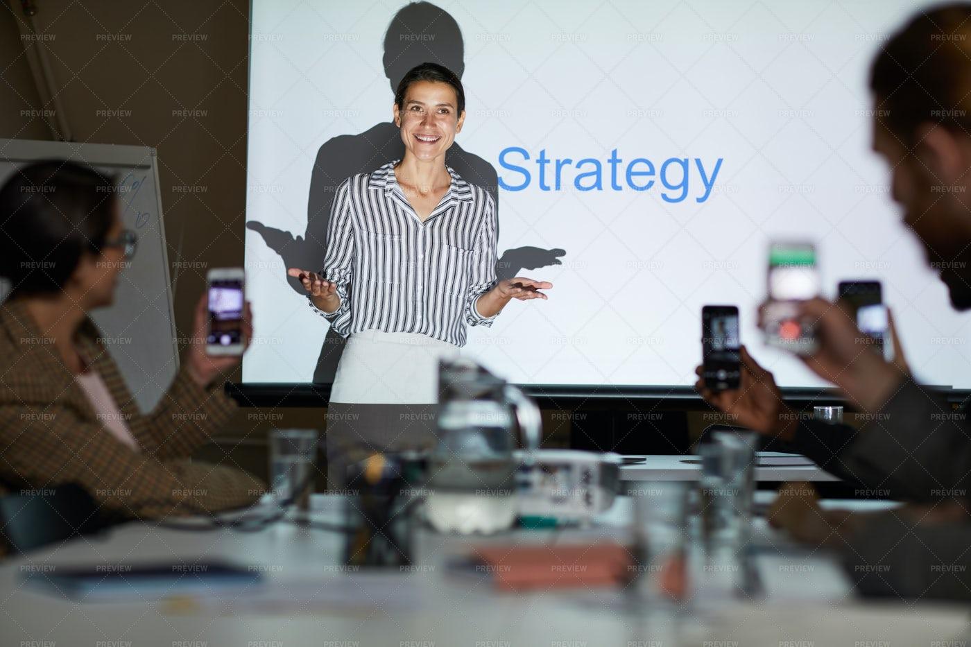 Lady Conducting Strategic Planning...: Stock Photos