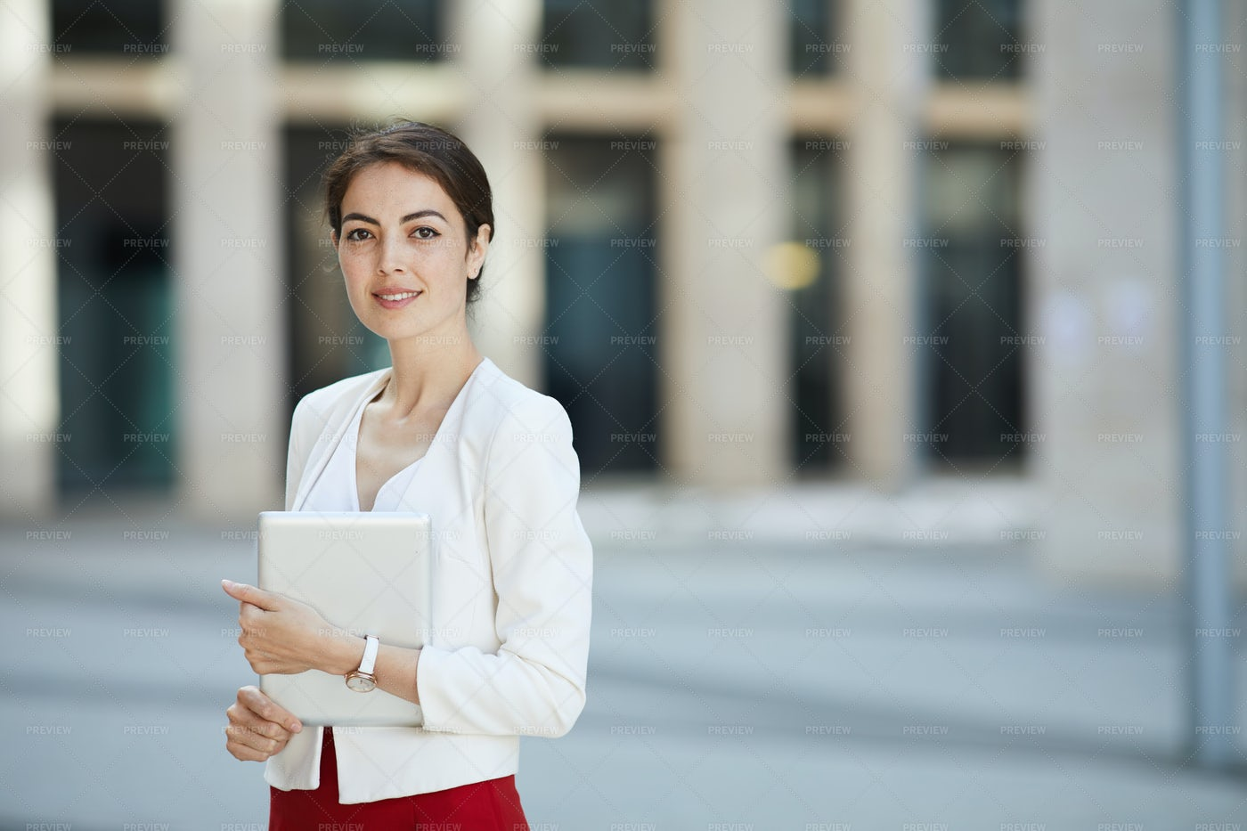 Beautiful Businesswoman Posing...: Stock Photos