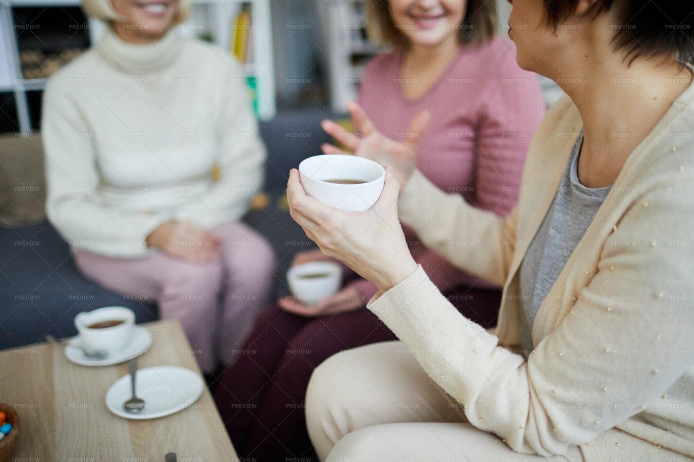 Women Enjoying Tea: Stock Photos