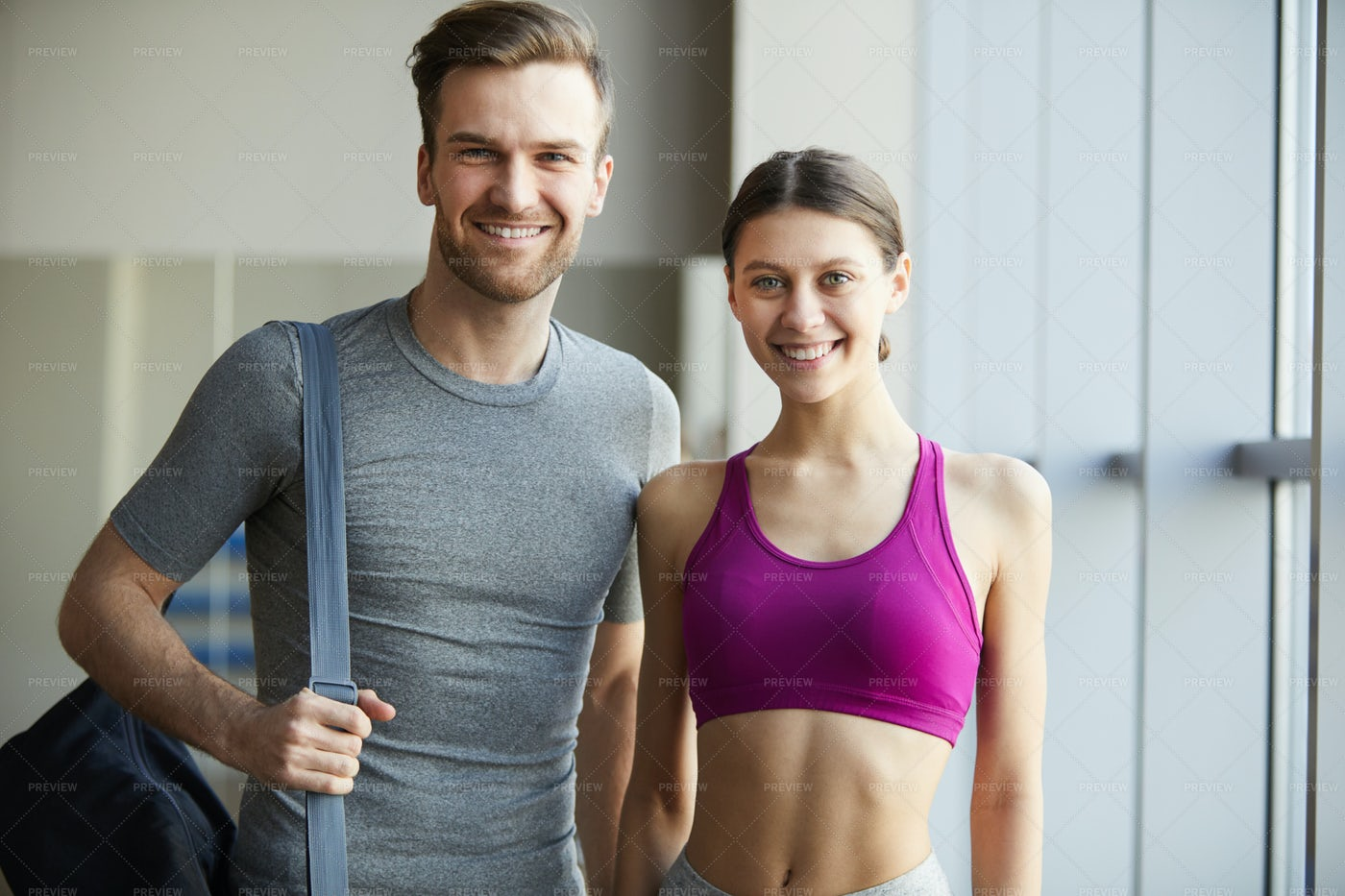 Happy Couple Visiting Training...: Stock Photos