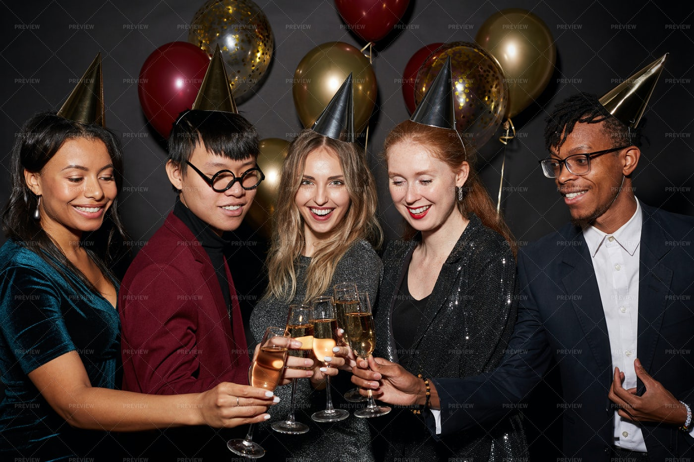 Group Of Beautiful People At Party: Stock Photos