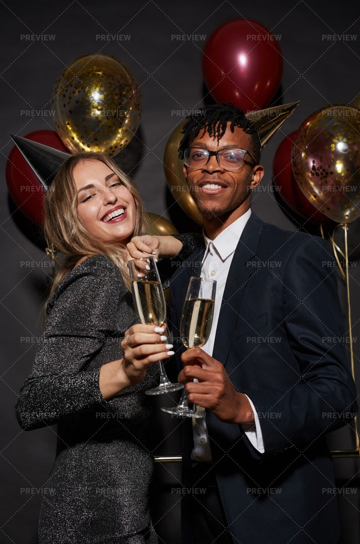 Beautiful Mixed-Race Couple Posing...: Stock Photos