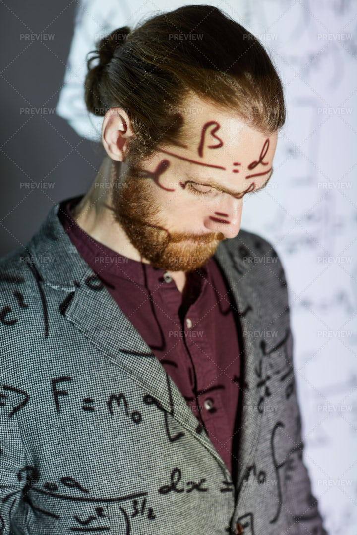 Conference Presentation On Math: Stock Photos