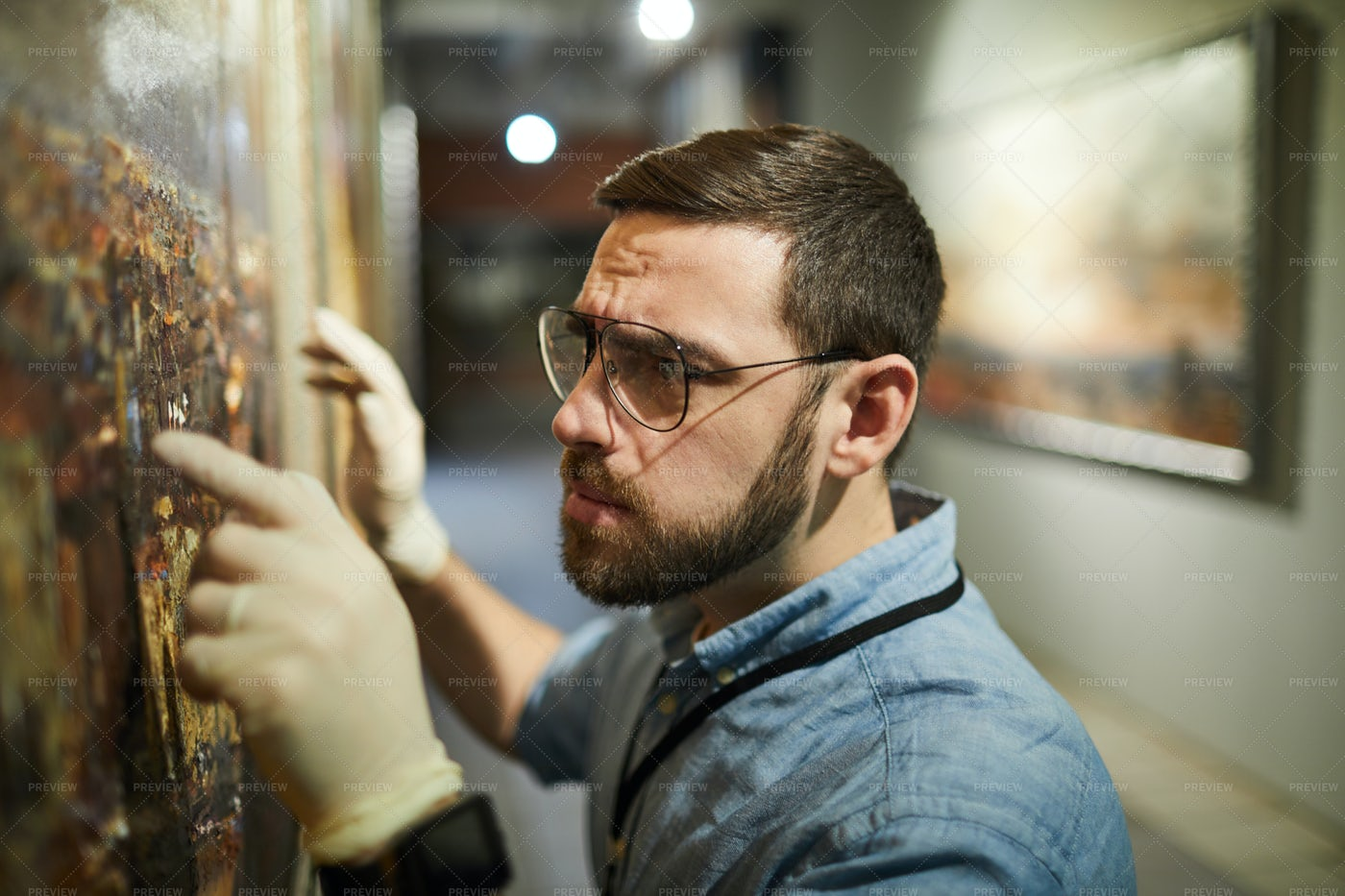 Painting Restoration: Stock Photos