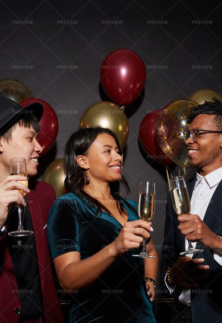 Elegant People Enjoying Party: Stock Photos