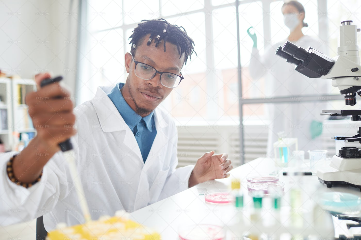 African-American Scientist: Stock Photos