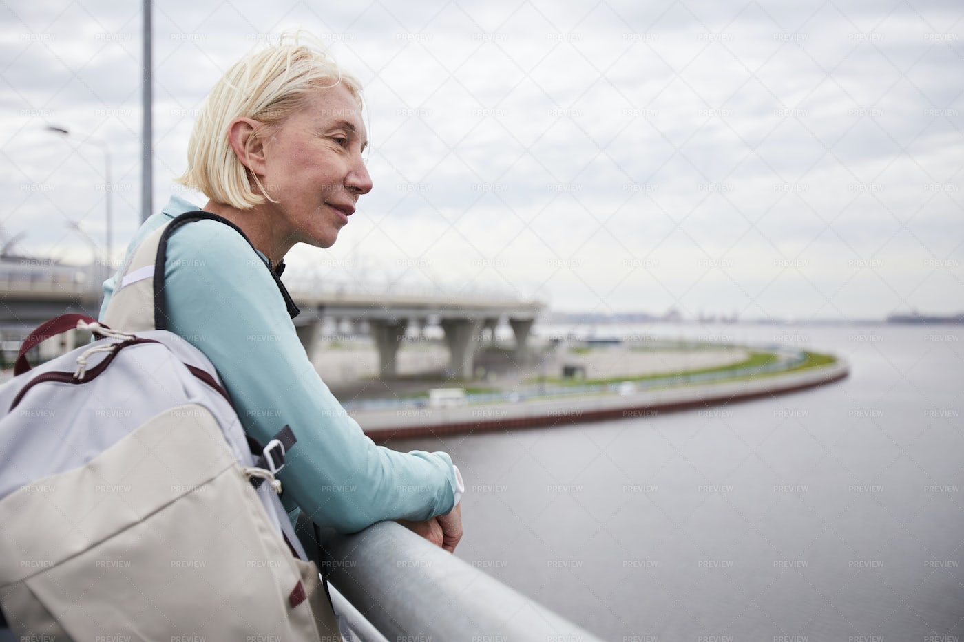 Woman By Riverside4: Stock Photos