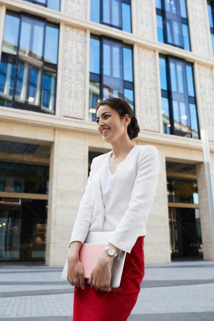 Businesswoman Laughing Cheerfully: Stock Photos