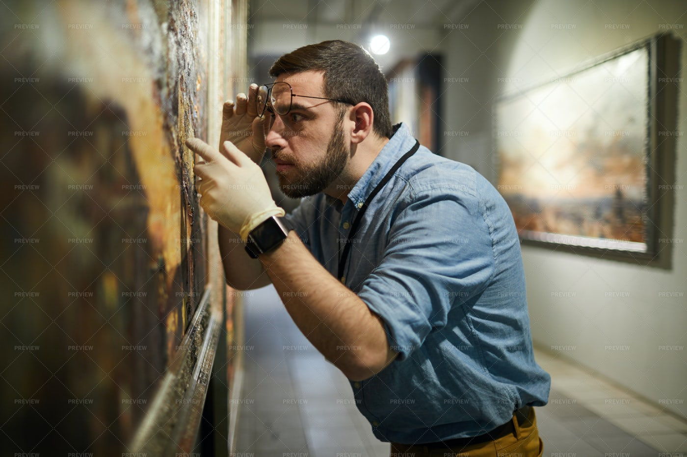 Painting Conservator: Stock Photos