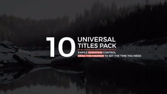 Universal Titles & Lower Thirds: After Effects Templates
