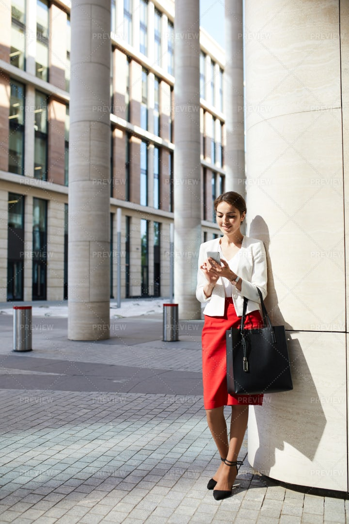 Young Businesswoman In Sunlight: Stock Photos