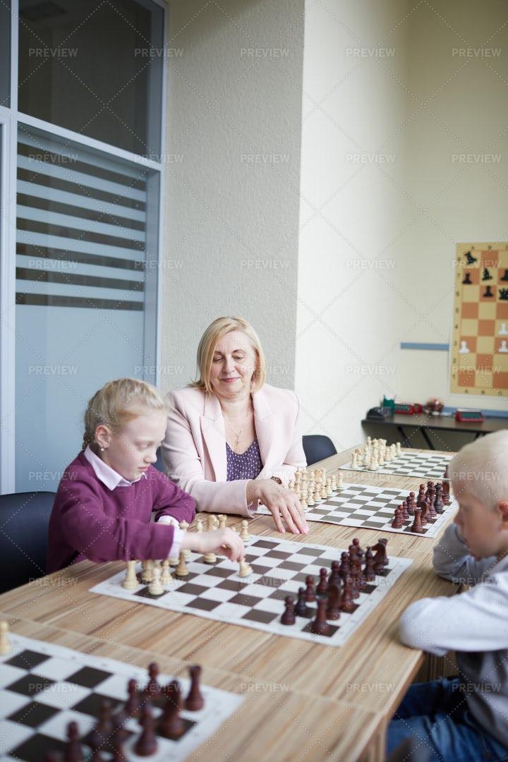 Teaching Playing Chess: Stock Photos