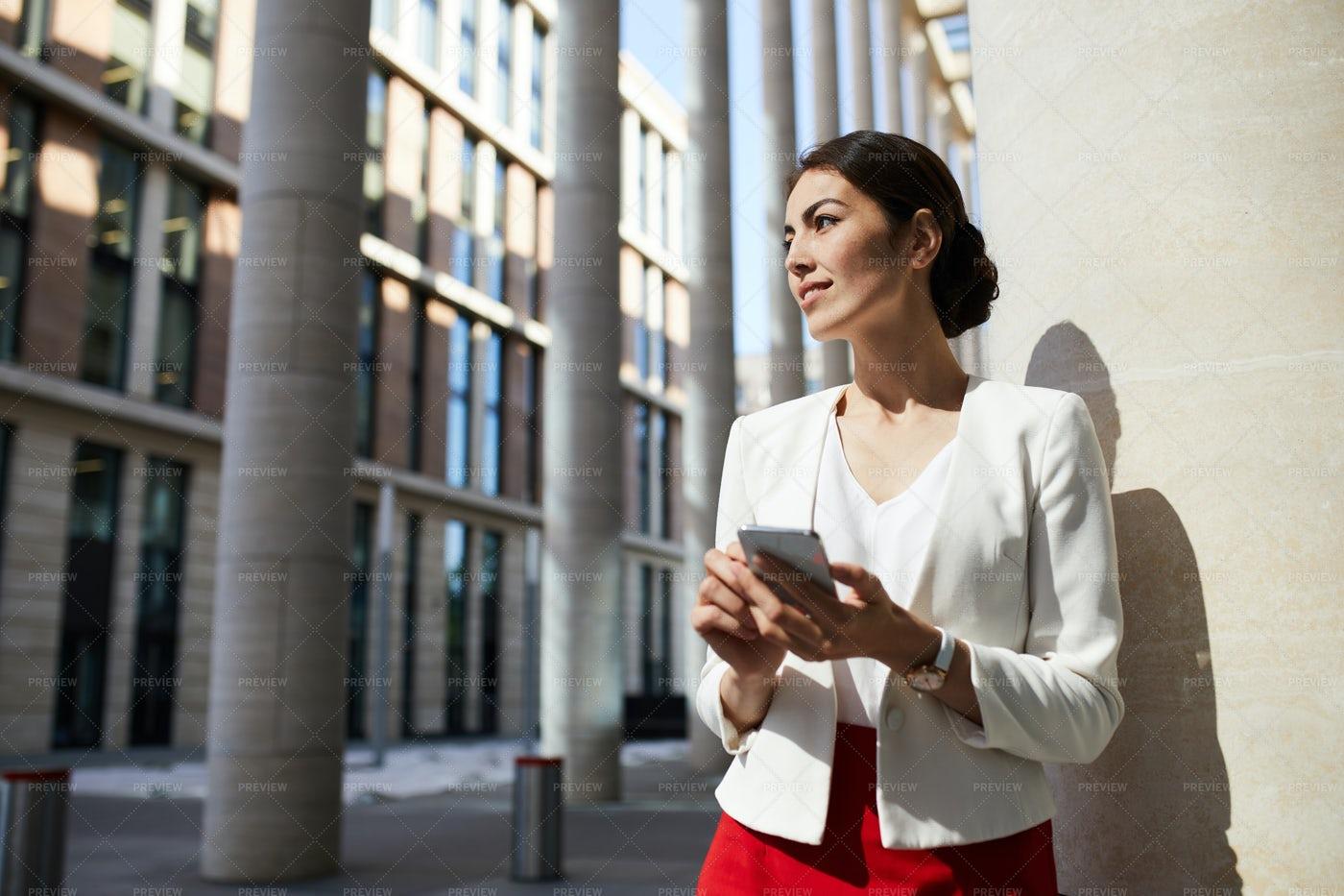 Beautiful Businesswoman In Sunlight: Stock Photos