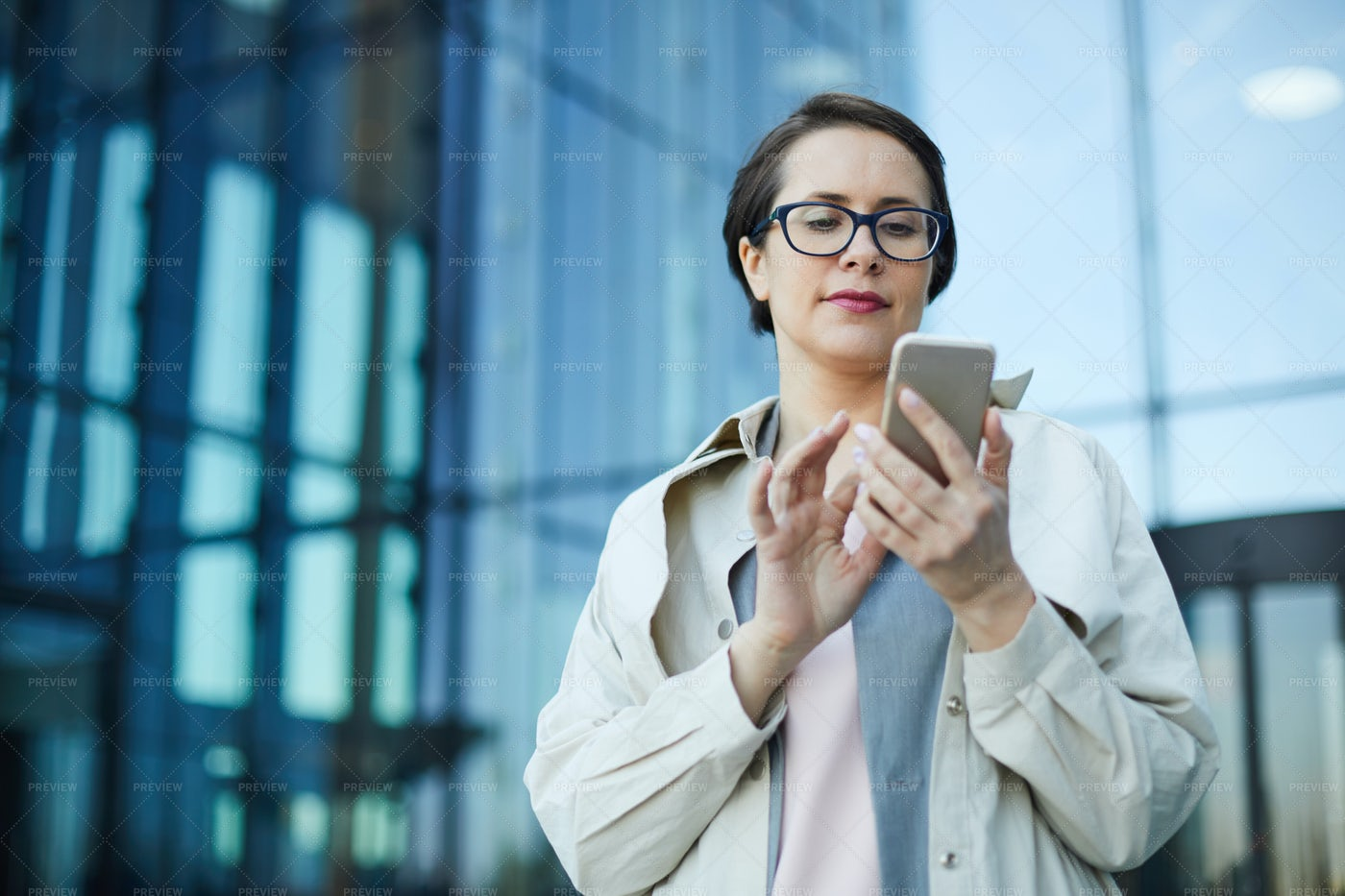 Busy Woman Checking Email: Stock Photos