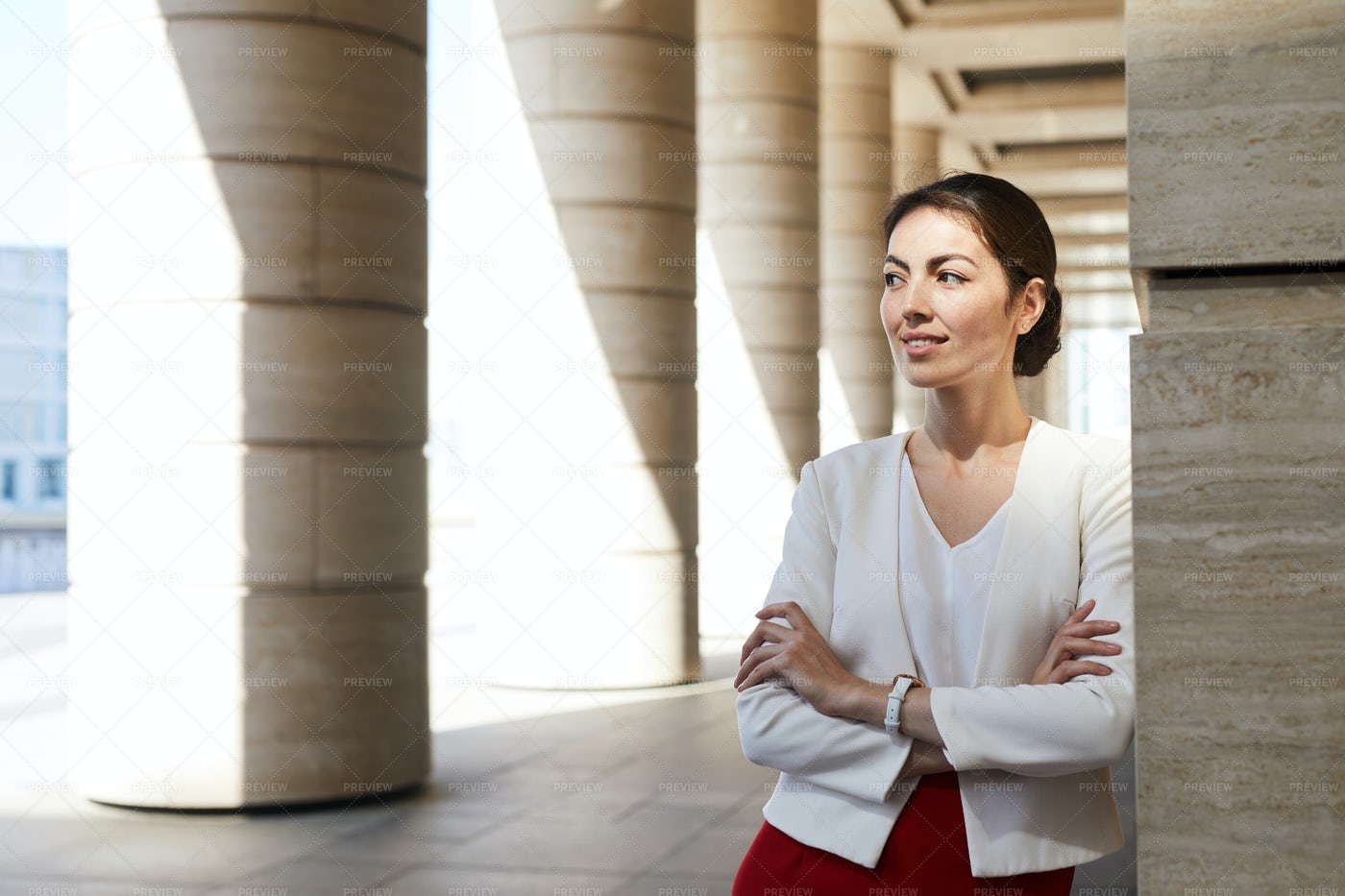 Confident Businesswoman Outdoors: Stock Photos