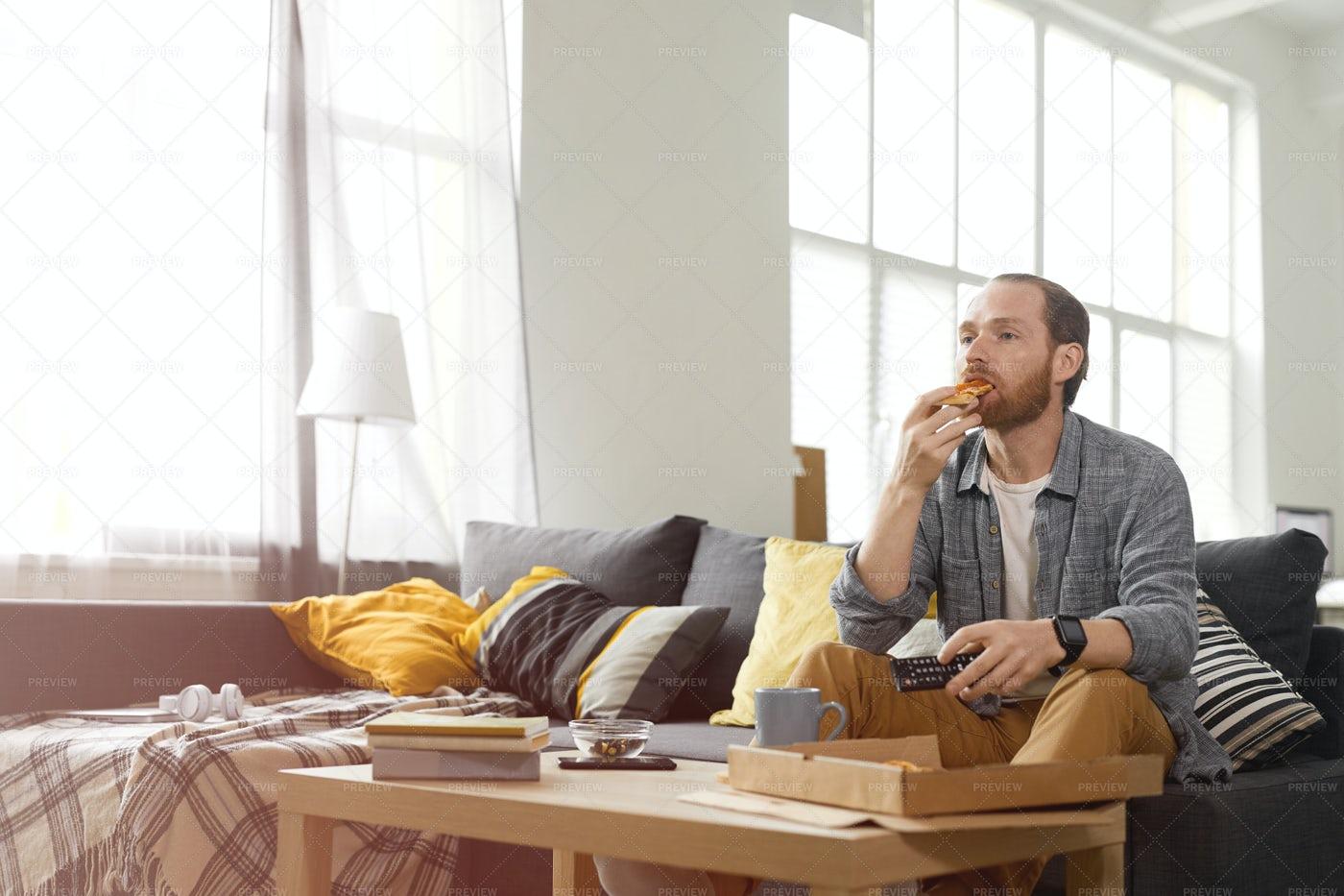 Contemporary Couch Potato: Stock Photos