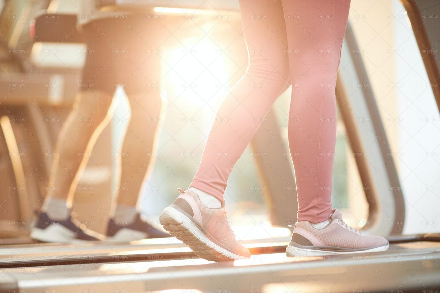 People On Treadmills: Stock Photos