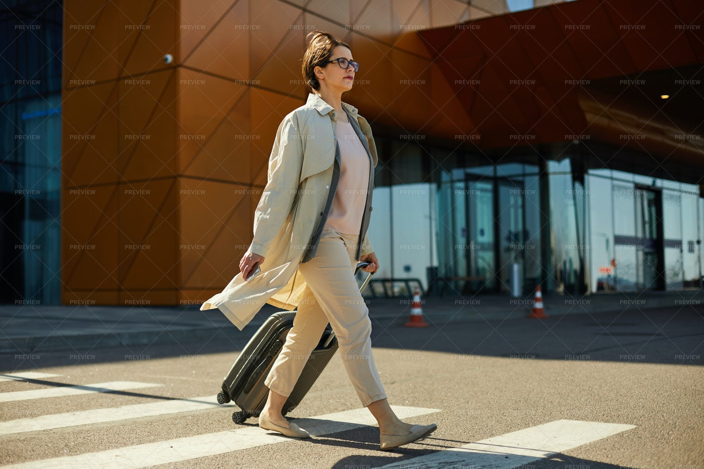 Confident Woman With Luggage...: Stock Photos