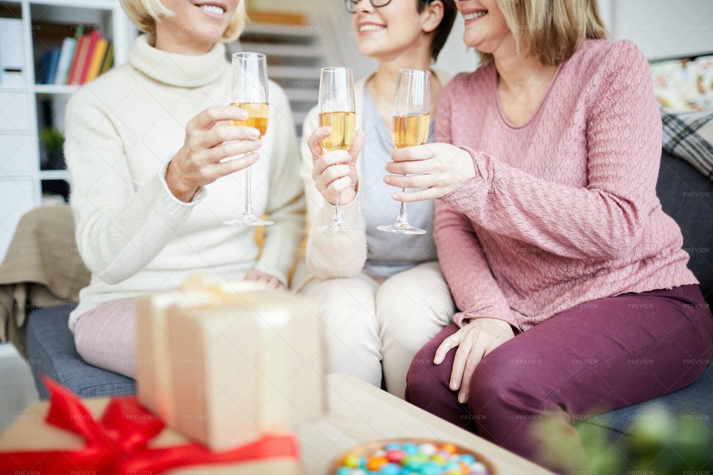 Women Celebrating Holiday: Stock Photos