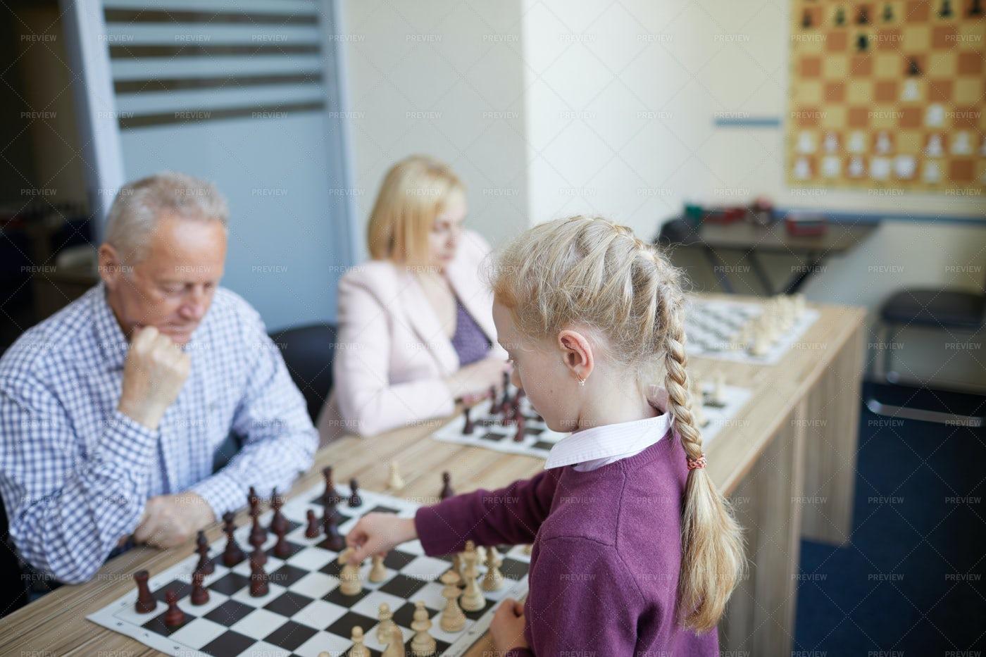 Intense Chess Game: Stock Photos