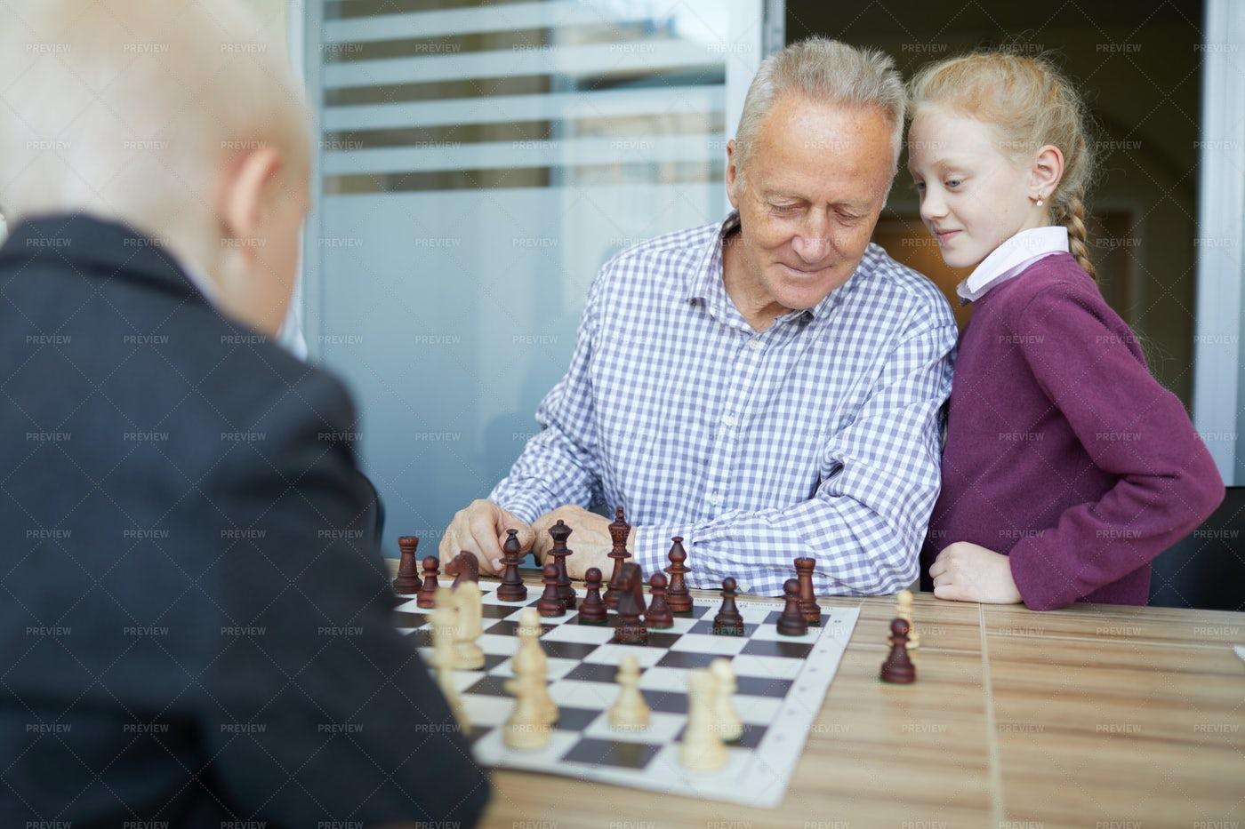 Giving Chess Advice: Stock Photos
